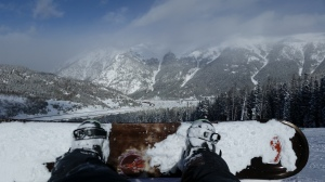 Snowboarding at Copper Mountain